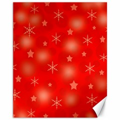 Red Xmas Desing Canvas 11  X 14   by Valentinaart
