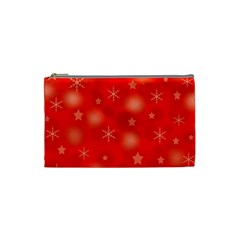 Red Xmas Desing Cosmetic Bag (small)  by Valentinaart