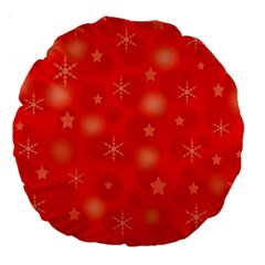 Red Xmas Desing Large 18  Premium Round Cushions by Valentinaart