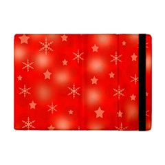 Red Xmas Desing Ipad Mini 2 Flip Cases by Valentinaart