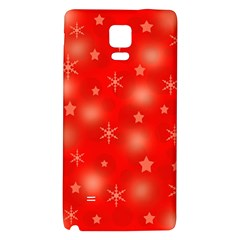 Red Xmas Desing Galaxy Note 4 Back Case by Valentinaart