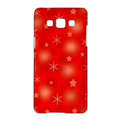 Red Xmas Desing Samsung Galaxy A5 Hardshell Case  by Valentinaart