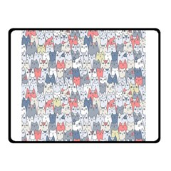 Cats Family  Double Sided Fleece Blanket (small)  by Mishacat