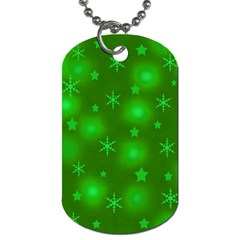 Green Xmas Design Dog Tag (two Sides) by Valentinaart