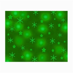 Green Xmas Design Small Glasses Cloth (2 Side) by Valentinaart