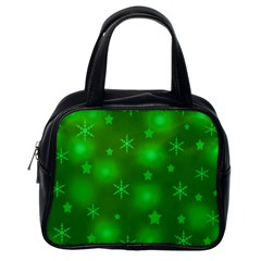 Green Xmas Design Classic Handbags (one Side) by Valentinaart
