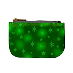 Green Xmas Design Mini Coin Purses by Valentinaart