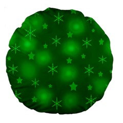 Green Xmas Design Large 18  Premium Round Cushions by Valentinaart