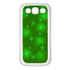 Green Xmas Design Samsung Galaxy S3 Back Case (white) by Valentinaart