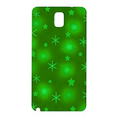 Green Xmas Design Samsung Galaxy Note 3 N9005 Hardshell Back Case by Valentinaart