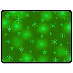 Green Xmas Design Double Sided Fleece Blanket (large)  by Valentinaart