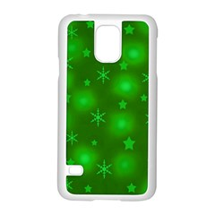 Green Xmas Design Samsung Galaxy S5 Case (white)