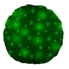 Green Xmas Design Large 18  Premium Flano Round Cushions by Valentinaart