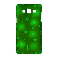 Green Xmas Design Samsung Galaxy A5 Hardshell Case  by Valentinaart