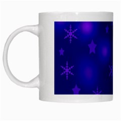 Blue Xmas Design White Mugs by Valentinaart