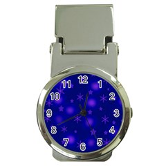 Blue Xmas Design Money Clip Watches