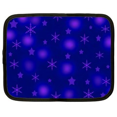 Blue Xmas Design Netbook Case (xxl)  by Valentinaart
