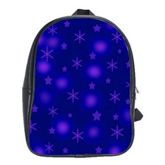 Blue Xmas Design School Bags(large)  by Valentinaart