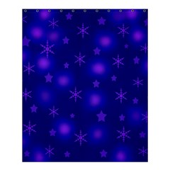 Blue Xmas Design Shower Curtain 60  X 72  (medium)  by Valentinaart