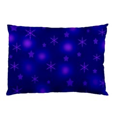 Blue Xmas Design Pillow Case (two Sides)