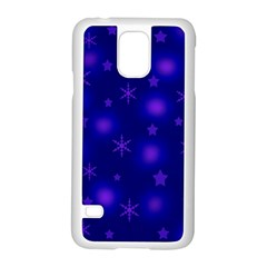 Blue Xmas Design Samsung Galaxy S5 Case (white)