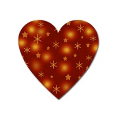 Xmas Design Heart Magnet by Valentinaart