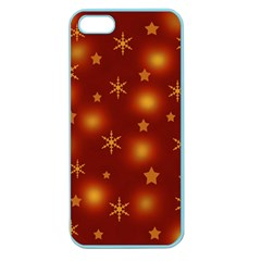Xmas Design Apple Seamless Iphone 5 Case (color) by Valentinaart