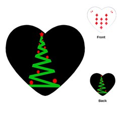 Simple Xmas Tree Playing Cards (heart)  by Valentinaart