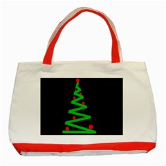 Simple Xmas Tree Classic Tote Bag (red) by Valentinaart