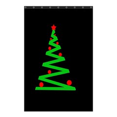 Simple Xmas Tree Shower Curtain 48  X 72  (small)  by Valentinaart