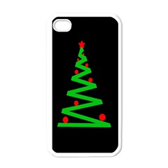 Simple Xmas Tree Apple Iphone 4 Case (white) by Valentinaart