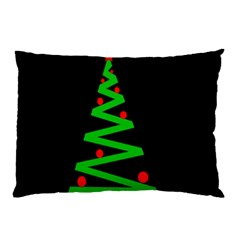 Simple Xmas Tree Pillow Case (two Sides) by Valentinaart