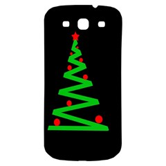 Simple Xmas Tree Samsung Galaxy S3 S Iii Classic Hardshell Back Case by Valentinaart