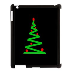 Simple Xmas Tree Apple Ipad 3/4 Case (black) by Valentinaart