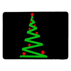 Simple Xmas Tree Samsung Galaxy Tab Pro 12 2  Flip Case by Valentinaart