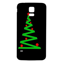 Simple Xmas Tree Samsung Galaxy S5 Back Case (white) by Valentinaart
