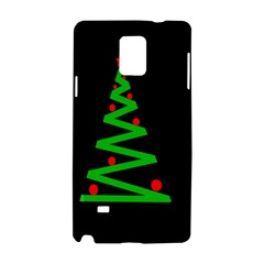 Simple Xmas Tree Samsung Galaxy Note 4 Hardshell Case by Valentinaart