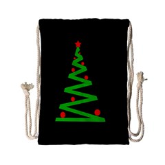 Simple Xmas Tree Drawstring Bag (small) by Valentinaart
