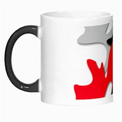 Gray, Red And Black Shape Morph Mugs by Valentinaart