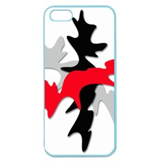 Gray, Red And Black Shape Apple Seamless Iphone 5 Case (color) by Valentinaart
