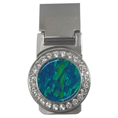 Green And Blue Design Money Clips (cz)  by Valentinaart