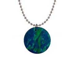 Green And Blue Design Button Necklaces by Valentinaart