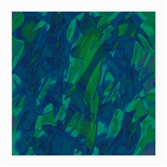 Green And Blue Design Medium Glasses Cloth (2-side) by Valentinaart