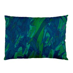 Green And Blue Design Pillow Case by Valentinaart