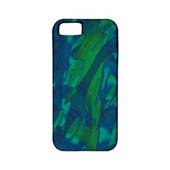 Green And Blue Design Apple Iphone 5 Classic Hardshell Case (pc+silicone) by Valentinaart