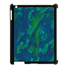 Green And Blue Design Apple Ipad 3/4 Case (black) by Valentinaart