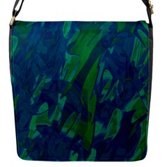 Green And Blue Design Flap Messenger Bag (s) by Valentinaart