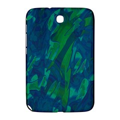Green And Blue Design Samsung Galaxy Note 8 0 N5100 Hardshell Case  by Valentinaart