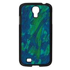 Green And Blue Design Samsung Galaxy S4 I9500/ I9505 Case (black) by Valentinaart