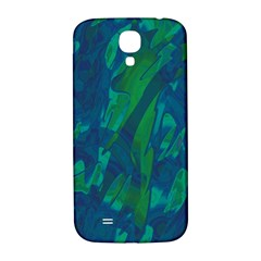Green And Blue Design Samsung Galaxy S4 I9500/i9505  Hardshell Back Case by Valentinaart